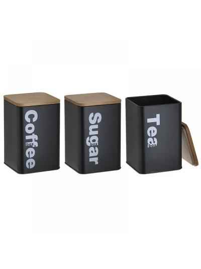 Δοχείο Καφέ/Ζάχαρης/Τσαγιού Σετ Των 3 6-60-373-0008