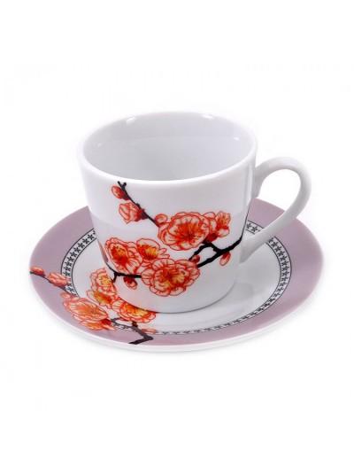 Σετ 6 Τεμαχίων Φλυτζάνια του Καφέ Πορσελάνης FYLLIANA Φλοράλ Κωδικός: 04-16-055