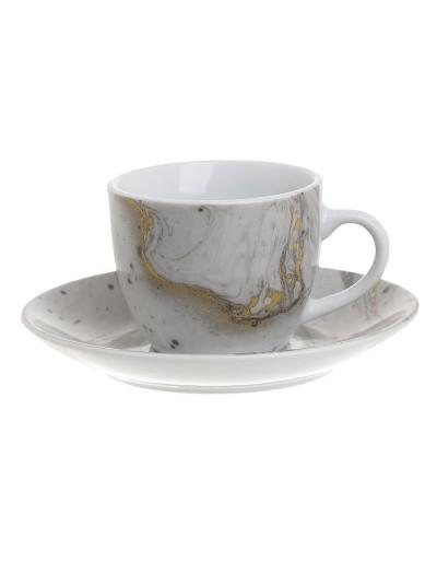 INART Σετ Καφέ 6 Τεμαχίων Όψη Μαρμάρου Κωδικός: 3-60-432-0007