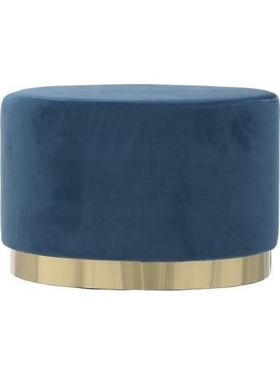 ΙΝΑRT Βελούδινο Σκαμπώ Μπλε με Χρυσή Βάση Κωδικός: 3-50-104-0326 Διαστάσεις: 60X40X40 Εκατοστά