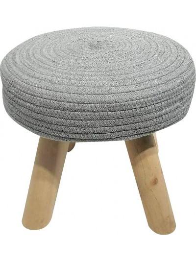Σκαμπώ με Υφασμάτινο Κάθισμα Γκρι και Ξύλινα Πόδια Κωδικός: 33-950-2317grey