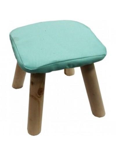 Σκαμπώ με Υφασμάτινο Κάθισμα Πράσινο και Ξύλινα Πόδια Κωδικός: 33-950-2323GREEN
