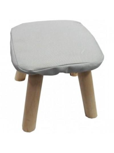 Σκαμπώ με Υφασμάτινο Κάθισμα Γκρι και Ξύλινα Πόδια Κωδικός: 33-950-2323GREY