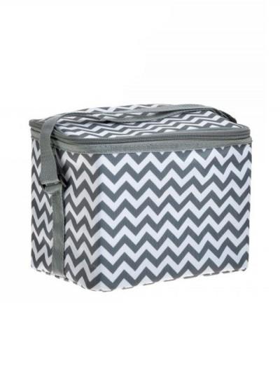 INART Τσάντα Cooler Γκρι/Λευκό 24Χ15Χ17εκ. Κωδ: 6-60-180-0053