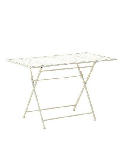 Μεταλλικό Τραπέζι INART Κωδικός: 3-50-207-0082 Διαστάσεις:  110Χ63Χ74 Εκατοστά