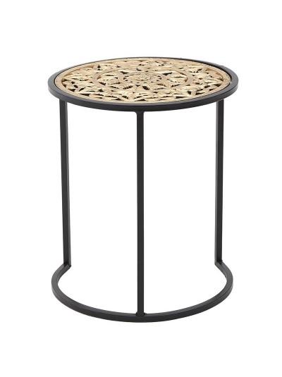 INART Βοηθητικό Τραπέζι Μεταλλικό Μαύρο/Χρυσό Κωδικός: 3-50-739-0007 Διαστάσεις: 38Χ38Χ45 Εκατοστά