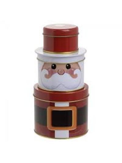 INART Μεταλλικό Κουτί Άγιος Βασίλης Σετ Των 3 Κωδικός: 2-70-151-0009 Διαστάσεις: 10Χ20 Εκατοστά