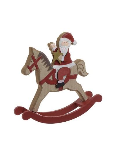 INART Κουνιστό Άλογο Ξύλινο Άγιος Βασίλης Κωδικός: 2-70-151-0014 Διαστάσεις: 20Χ4Χ19 Εκατοστά