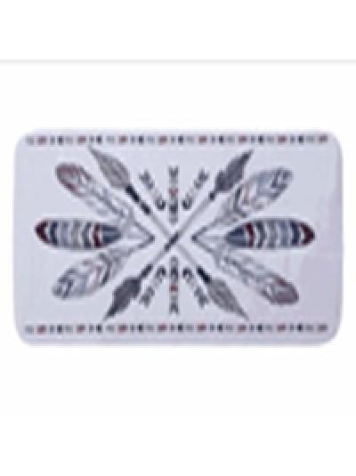 INART Πατάκι Μπάνιου Boho Υφασμάτινο Κωδικός: 6-40-508-0003 Διαστάσεις: 50X80 Εκατοστά