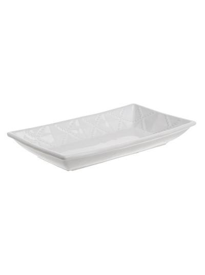 INART Πιατέλα Κεραμική Λευκή Κωδικός: 6-60-022-0034 Διαστάσεις: 28Χ16Χ3 Εκατοστά