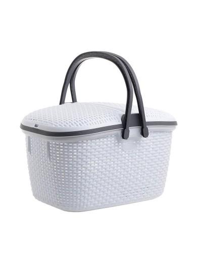 INART Καλάθι Πικνίκ Πλαστικό Λευκό Κωδικός: 6-60-220-0002