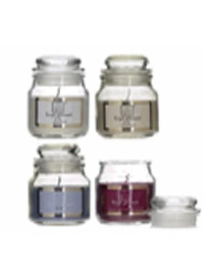 INART Κερί Αρωματικό Παραφίνης Σε Βάζο 4 Αρώματα Κωδικός:  6-80-508-0001 Διαστάσεις: 5,5Χ9 Εκατοστά