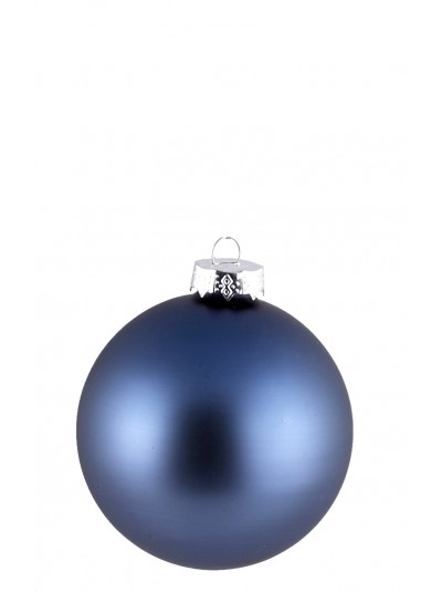 Γυάλινη Μπάλα Σκούρο Μπλε Ματ 10 Εκατοστά