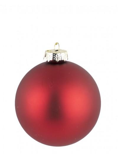Γυάλινη Μπάλα Κόκκινη Ματ 10 Εκατοστά