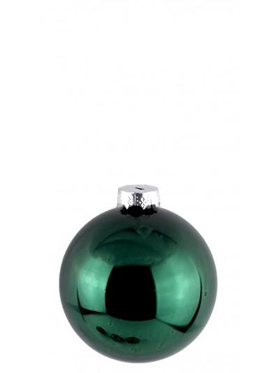 Γυάλινη Μπάλα Σμαραγδί Γυαλιστερή 10 Εκατοστά