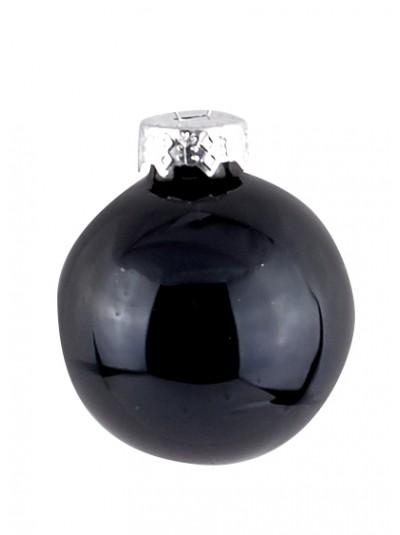 Γυάλινη Μπάλα Μαύρο Μπλε Γυαλιστερή 8 Εκατοστά