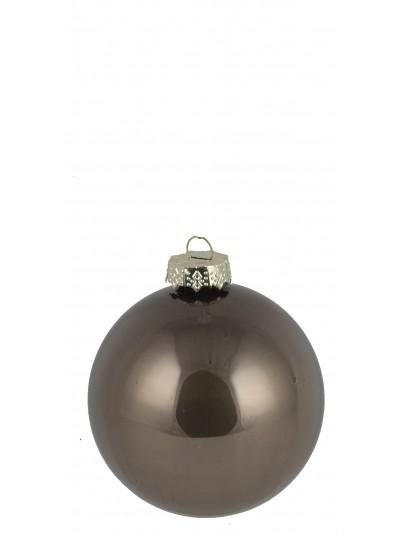 Γυάλινη Μπάλα Ανοιχτό Καφέ Γυαλιστερή 8 Εκατοστά