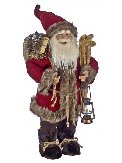 Διακοσμητικός Άγιος Βασίλης Κόκκινο-Καφέ 45 Εκατοστά