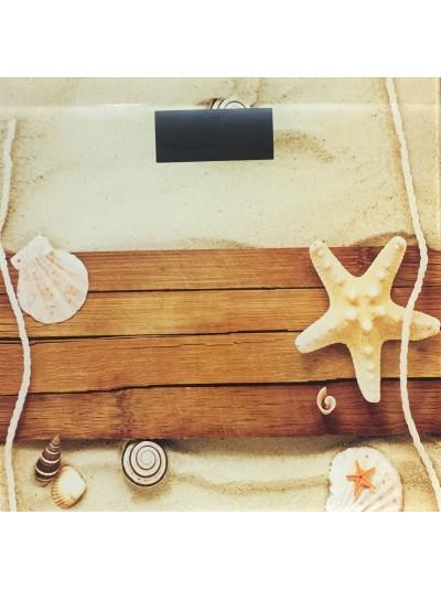 Ζυγαριά Μπάνιου Σώματος Ηλεκτρονική με Σχέδιο Παραλία TNS