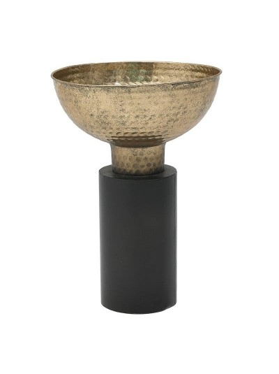 INART Μεταλλικό Μπωλ Με Πόδι Μαύρο 26Χ37 3-70-153-0039