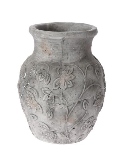 Βάζο Αμφορέας Γκρι 29Χ37 Εκατοστά