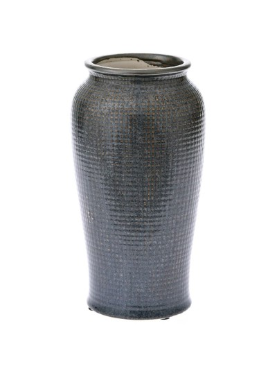 Κεραμικό Βάζο Γκρι με Καπάκι 15Χ28 Εκατοστά