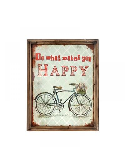 Κάδρο με Ποδήλατο 51X3X65 Happy