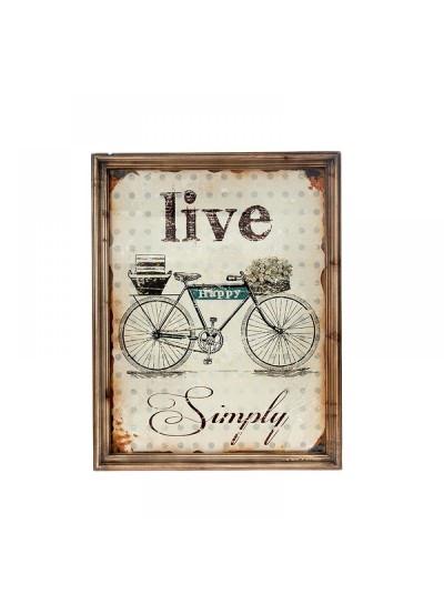 Κάδρο με Ποδήλατο LIVE 51X3X65