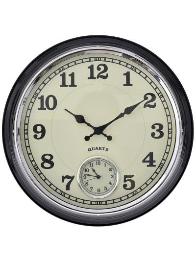 Μεταλλικό Ρολόι Tοίχου Διπλό 41 Εκατοστών