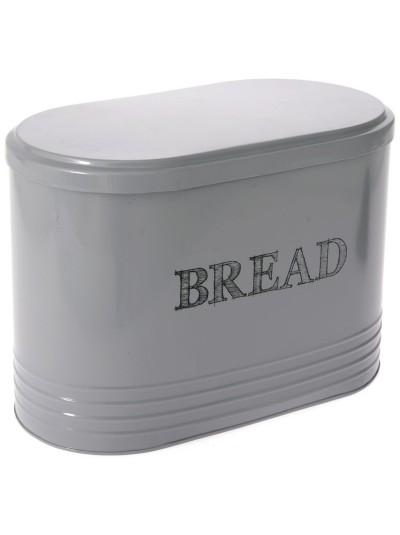 Μεταλλική Ψωμιέρα Γκρι Bread Box Vintage 33 X 19 X 24 Eκ